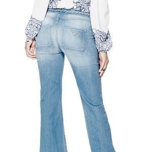 New GUESS Braided Flare Jeans - 70S BLUE 2 WASH